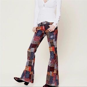 SUPER RARE Free People Patchwork Pants Size 28